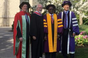 Professor Peter Mugyenyi awarded a Honorary Doctoral Degree from Western University Ontario, Canada for his contribution in the fight against HIV/AIDS